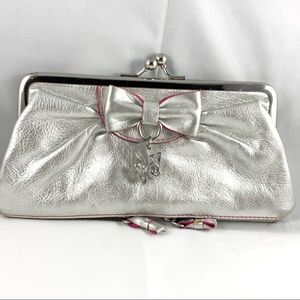 Juicy Couture Silver Wallet Change-purse